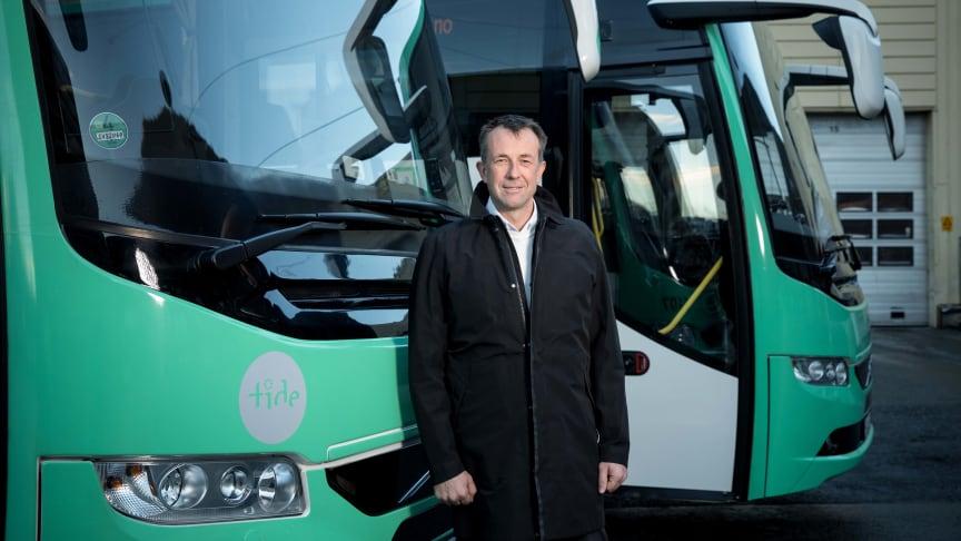 – Også det private næringslivet og det kommersielle bussegmentet må ta bærekraft på alvor, sier konsernsjef Roger Harkestad i Tide (Illustrasjonsfoto: Eivind Senneset)