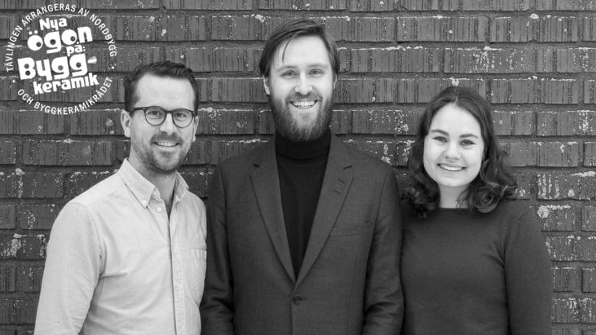 De tre arkitektstuderande Oscar Landing, Johannes Henriksson och Fanny Tersmeden från Arkitekthögskolan vid Umeå universitet korades som vinnare i tävlingen Nya ögon på.