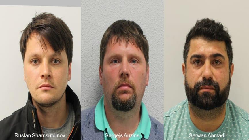 The three men jailed