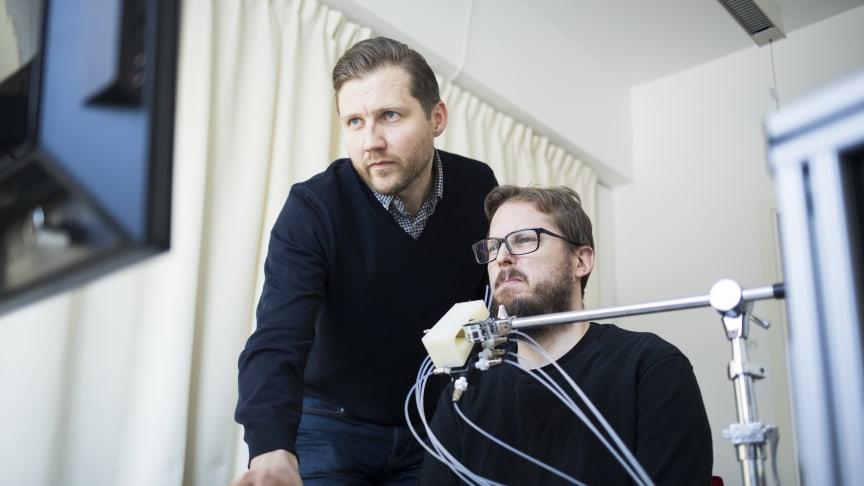 Forskning i luktlabbet på Stockholms universitet. Foto: Niklas Björling/Stockholms universitet