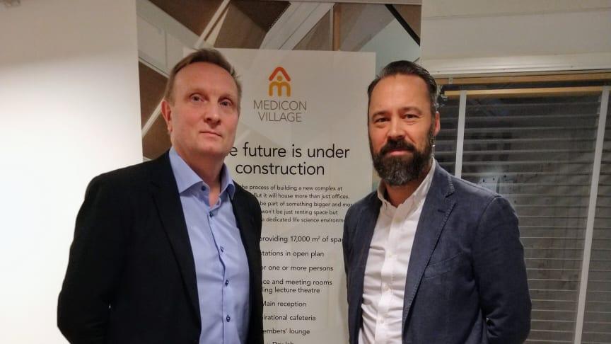 Erik Jagesten, fastighetsdirektör Medicon Village tillsammans med Paul Hübenbecker, vice VD Bredablick Facility Services.