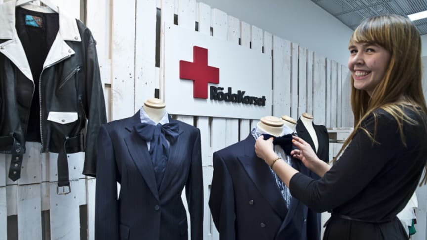 Röda Korset öppnar pop up-butik på Arlanda, Airport City Stockholm