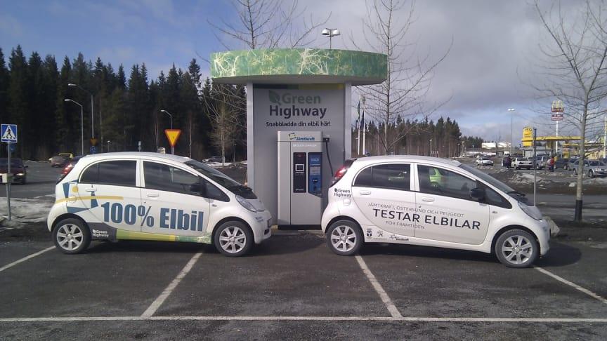 Nu invigs norra Europas första snabbladdningsstation för