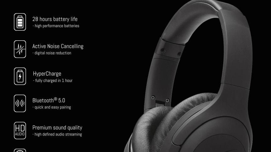 NiTRO-X Over-ear – Optimal komfort och brusreducering (ANC)