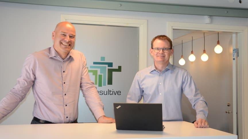 Från vänster: Sergio Castagna, delägare Consultive och Tobias Bäckström, VD och delägare Consultive.