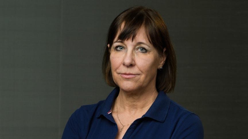Karin Båtelson, andre vice president i styrelsen för AEMH och ordförande Sjukhusläkarna