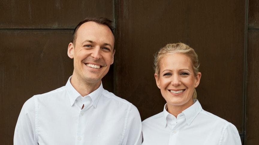 Anna Cardelius och Oscar Målevik, ägare av Haga Schweizeri