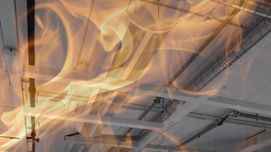 Lindab har som den første producent fået stemplet på den nye brandnorm, både af rektangulære og cirkulære ventilationskanaler i henhold til standarden DS EN 1366-1.