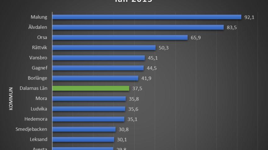 I Malung-Sälens kommun sålde Systembolaget 92 liter starköl per invånare 2015. Det är över 200% mer än riksgenomsnittet på 28,8 liter.