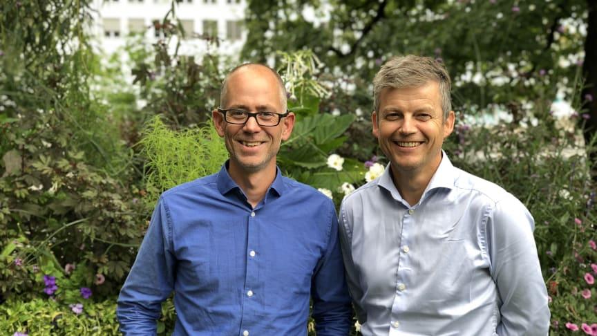 Klaus Andreassen (t.v.) og Kåre Kallmyr fra Norconsult er pådrivere for Norconsults sterke fagmiljø innen sykehus og institusjonsbygg. (Foto: Norconsult)