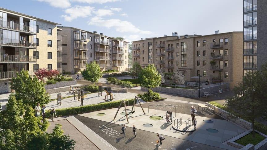 Sista lägenheten såld i Riksbyggens Brf Guldpennan i Uddevalla