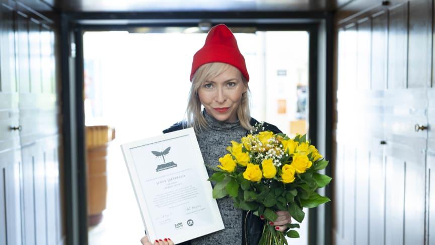 Jenny Jägerfeld vinner Barnradions bokpris 2018 Foto: Micke Grönberg/Sveriges Radio