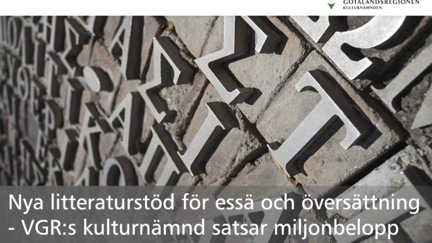 Nya litteraturstöd för essä och översättning - VGR:s kulturnämnd satsar miljonbelopp