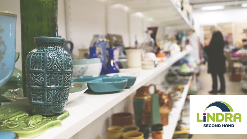 Secondhandbutiken som öppnade 25 maj på Salviagatan 1 är Lindras andra etablering i Göteborg.