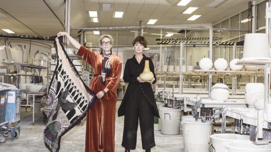 Regeringen investerar 5 miljoner kronor under 2020 för att svensk design ska synas i världen. Foto: Tina Stafrén, från Lidköpings Porslinsfabrik
