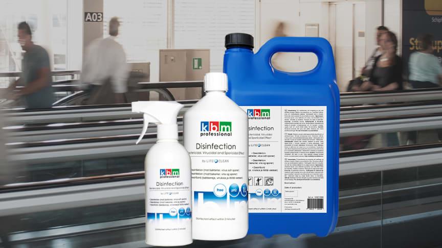 Ytdesinfektionsmedlet kan användas i alla typer av miljöer.