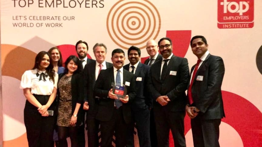 TCS team celebrating the Top Employer 2020 certification
