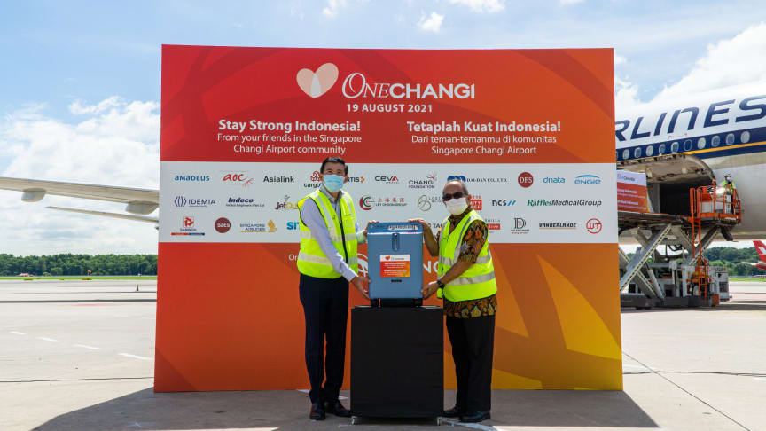 Companies from among Changi Airport's partners and airport staff extend heartfelt support to a neighbour in need