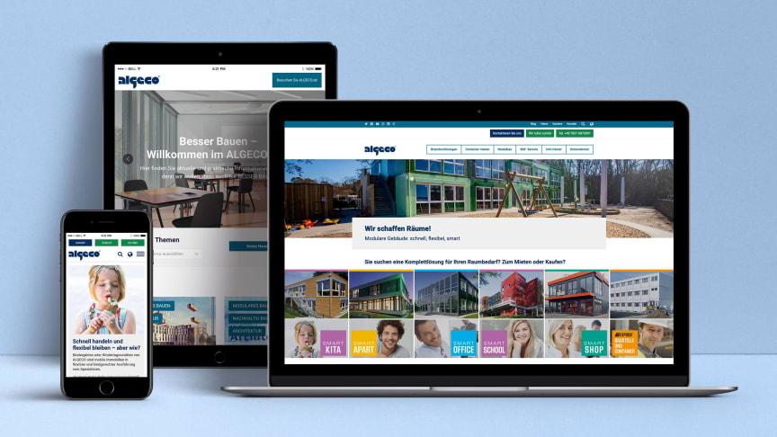 Modernes Design, klare Navigation und detaillierte Informationen – die neue Website von Algeco bietet ihren Nutzern echten Mehrwert.