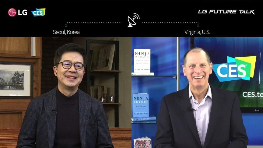 """LG är värd för teknikbranschens ledare i virtuellt """"Future Talk"""" om värdet av öppen innovation i en ny era"""