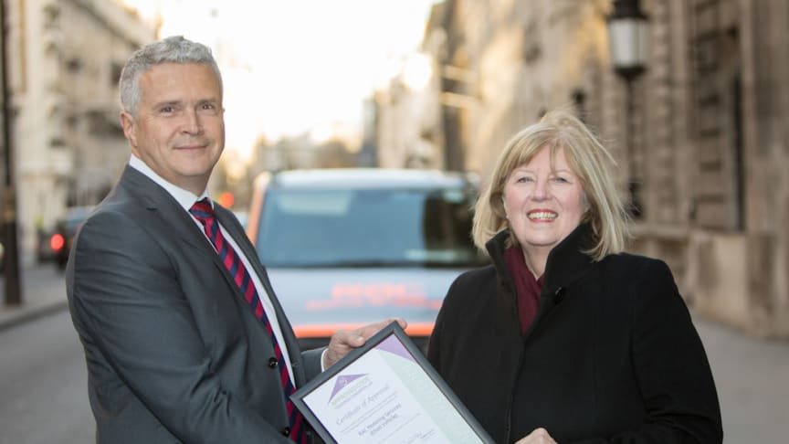 RAC head of dealer propositions Mario Dolcezza with the president of the Chartered Trading Standards Institute, Baroness Christine Crawley