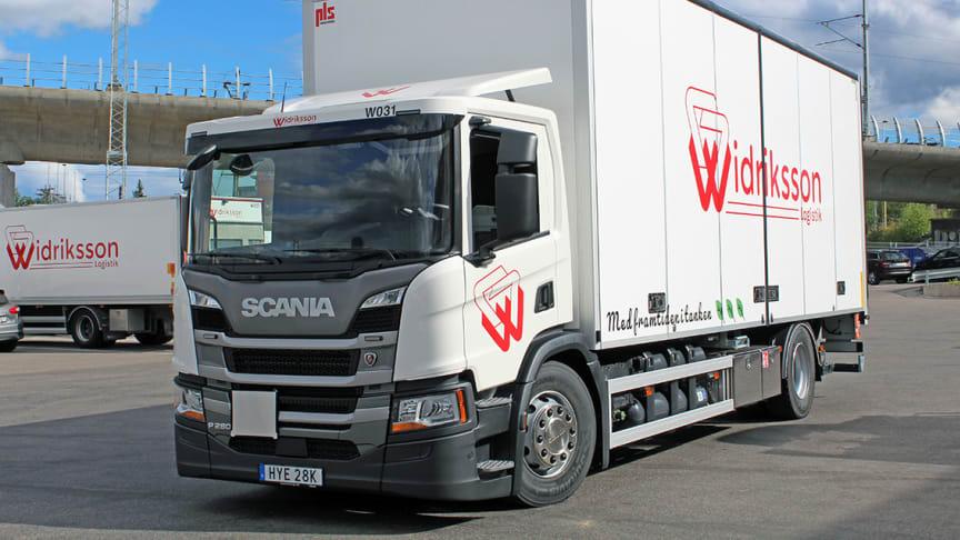 Widrikssons nya Scania P 280 med gasdrift.