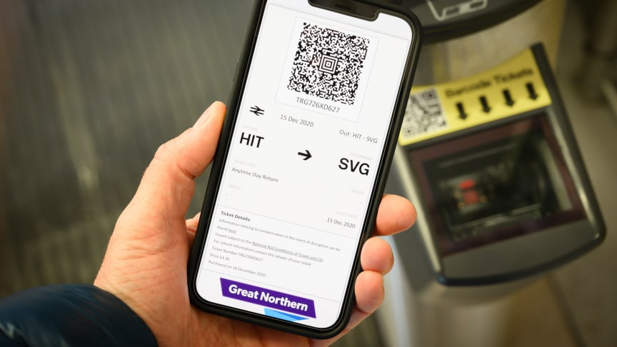 Smartphone e-tickets speed passengers on their way and help everyone to socially-distance