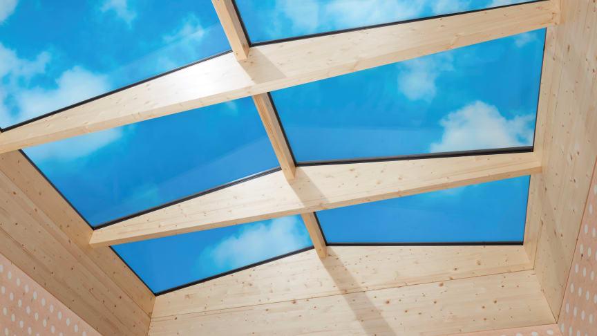 Scanlight profilsystem i trä ger möjlighet att utföra glastak och glaslanterniner helt utan aluminiumprofiler som bärande konstruktion.