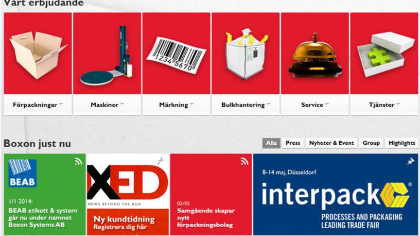 Ny webbsite samlar hela Boxons erbjudande