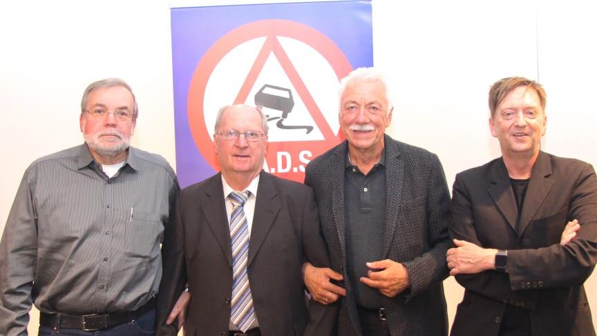 v.li.: Hans-Peter Schäfer, Günther Schwarz, Wilfried Dietsch, Andreas Alberts