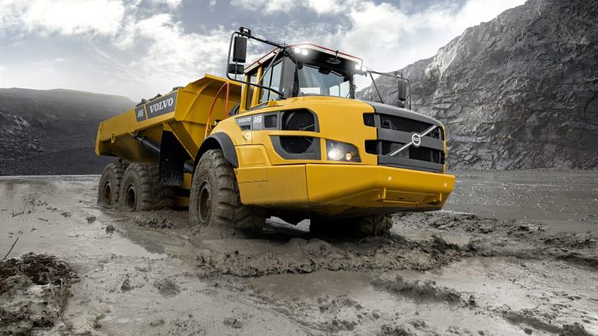 Volvos dumprar i G-serien växer med nya modellen A45G