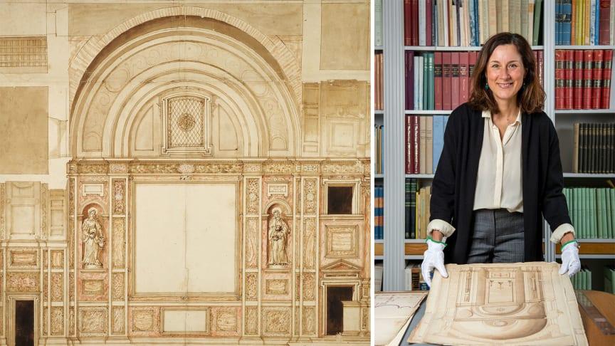 Francesco da Volterra, Santa Pudenziana, Cappella Caetani, 1591. Anna Bortolozzi, associate professor of art history at Stockholm University. Photo: Cecilia Heisser/Nationalmuseum.