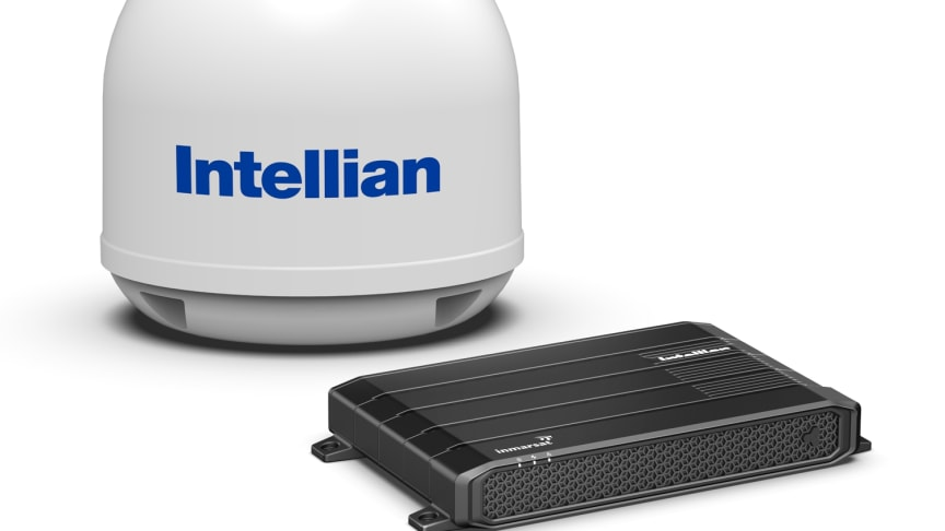 Intellian's new FleetBroadband 250 terminal