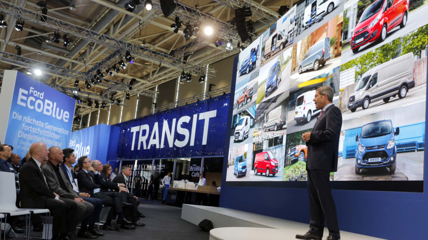 Fords dieselrevolusjon har verdenspremiere på IAA i Hannover i dag.