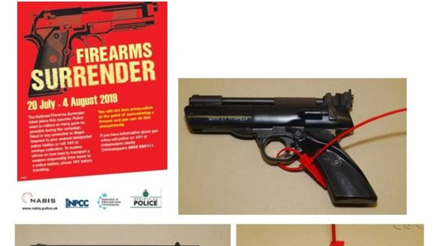 Total of 131 weapons and ammunition lots handed in as part of two week firearms surrender
