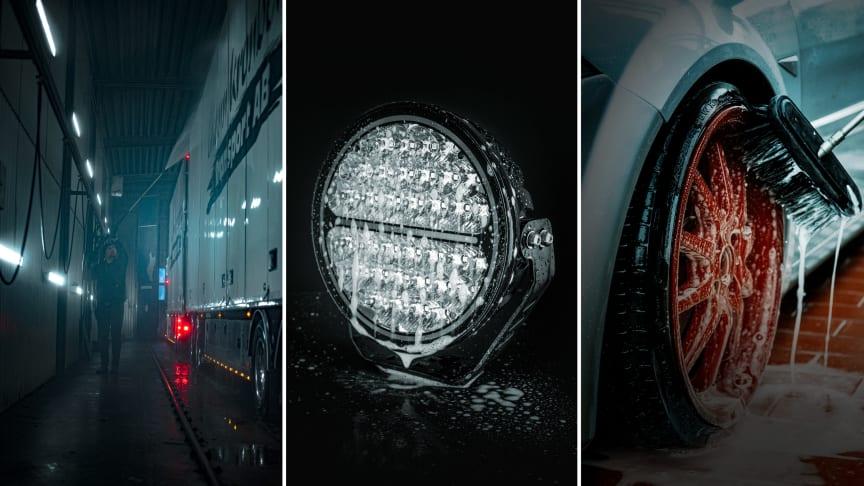 Se till att rengöra dina extraljus varje gång du tvättar ditt fordon, rekommenderar belysningsexperten Strands Lighting Division