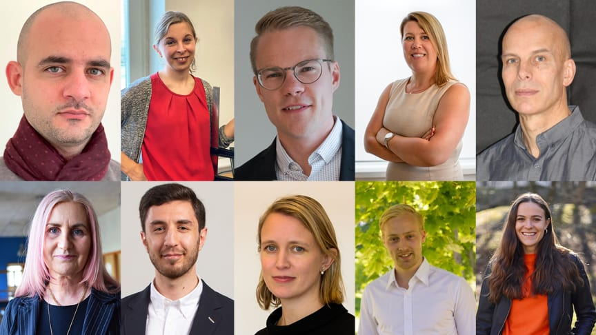 Foto: Alla tio vinnare av ÅForsk Entreprenörsstipendium 2020