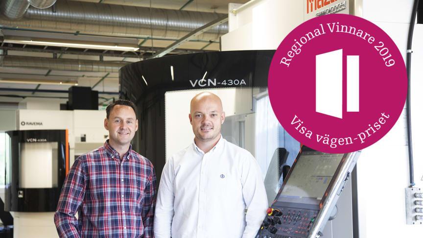 Arbetsledare Mathias Boltestam och vice VD Björn Henriksson