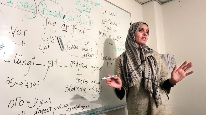Ines Merai är cirkelledare och studiekonsulent/verksamhetsutvecklare hos Ibn Rushd.