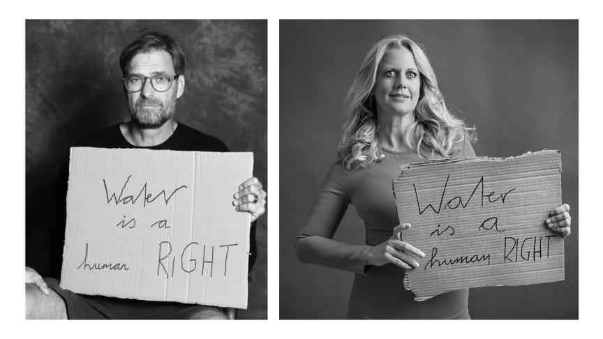 Jürgen Klopp und Barbara Schöneberger für die Viva con Agua Kampagne #waterisahumanright