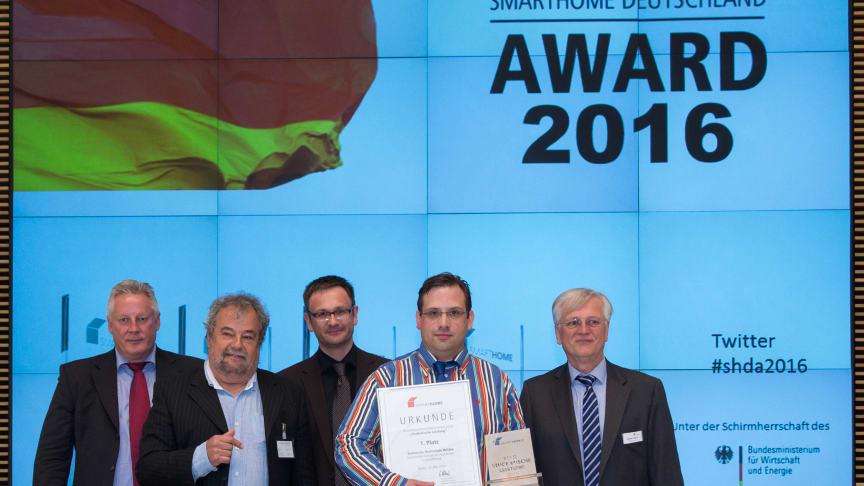 Tilman Bock (2.v.r.) während der Auszeichnungsveranstaltung in Berlin.