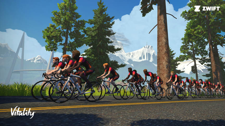 A partnership in the virtual world towards global change Vitality, the largest global platform for behaviour change, is proud to partner with Zwift, the global online fitness platform born from gaming towards fitness and social change.