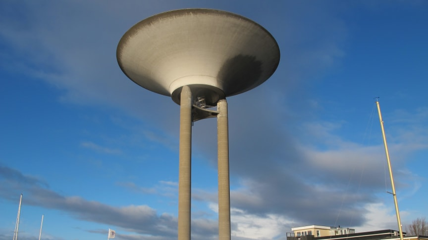 Vattentornet i Landskrona rustas upp