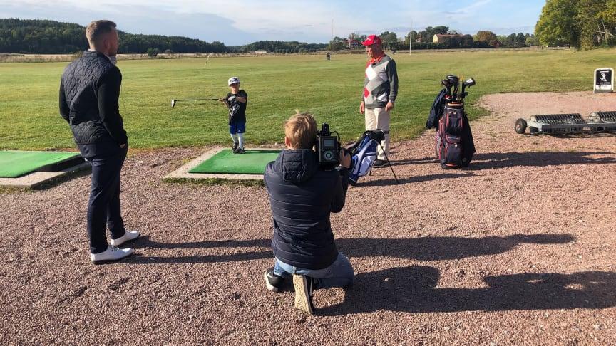 Inspelning av Mitt Sigtuna på Sigtuna Golfklubb
