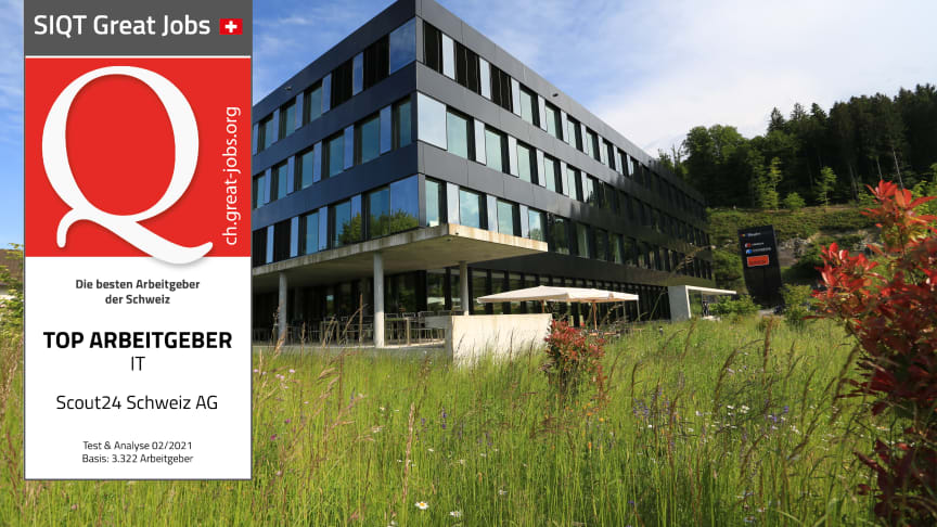 ISTQ Great Job Awards 2021 : Scout24 Suisse SA désignée comme l'un des meilleurs employeurs du secteur informatique