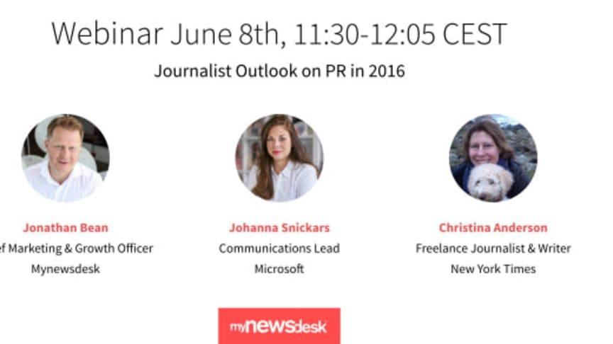 Webinar: Journalisters syn på PR
