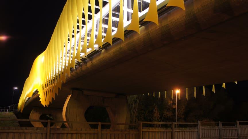 Vandalbelysning till bro i Malmö!