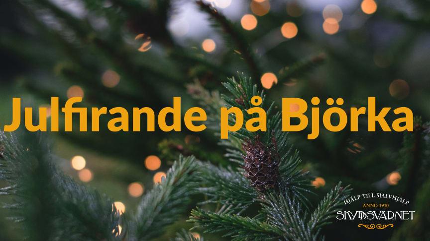 Skyddsvärnets stödboende Björka Bromma bjuder in tidigare klienter till julfirande på julafton.