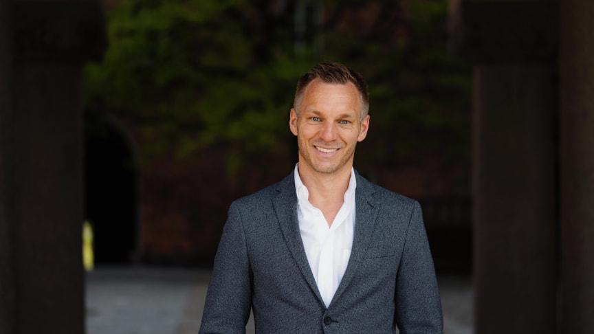 Erik Slottner (KD), äldreborgarråd i Stockholms stad. Foto: William Persson.