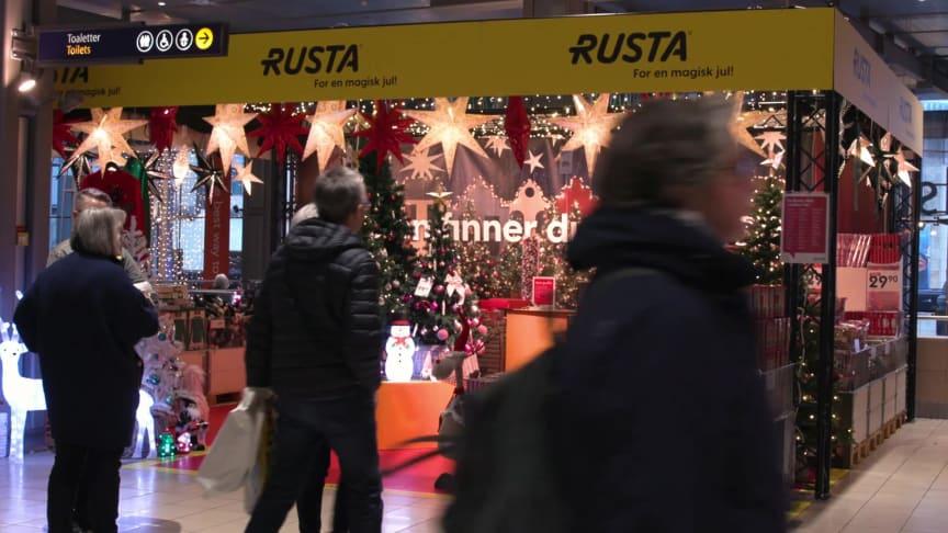 Rusta inviterte til jul i sin første pop-up i Oslo sentrum